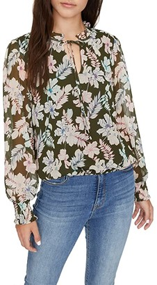 Sanctuary Love in Bloom Blouse (Mini Tropic Punch) Women's Clothing