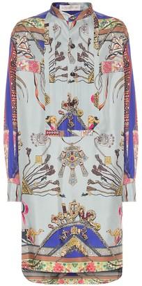 Etro Printed silk shirt dress