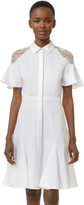 Prabal Gurung Shirtdress with Lace Shoulders