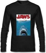 DIYgarment Men's Long Sleeve Custom T shirt with Jaws Design