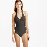J.Crew Ruched halter one-piece swimsuit