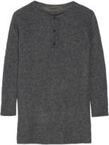 The Elder Statesman Effa Oversized Cashmere And Silk-blend Sweater - Charcoal