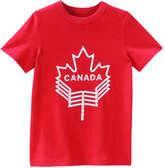 Joe Fresh Kid Boys' Canada Crew New Top, Red (Size M)