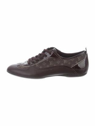 Louis Vuitton Monogram Pattern Leather Sneakers Brown