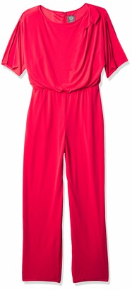Vince Camuto Women's Jumpsuit with Tie Shoulder