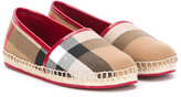 Burberry house check espadrilles - kids - Leather/Canvas/rubber - 27