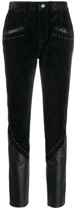 Saint Laurent Panelled Studded Trousers