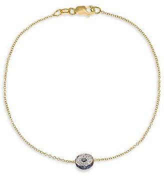 Ileana Makri Evil Eye 18K Yellow Gold, Diamonds & Sapphire Leda Bracelet