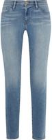Frame Le Skinny De Jeanne Mid-rise Jeans - Light denim