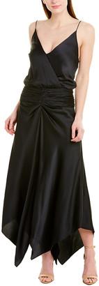 Jonathan Simkhai Ruched Silk-Blend Midi Dress