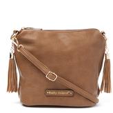Kathy Ireland Brown Tassel Crossbody Bag
