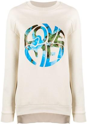 Alberta Ferretti Contrast Print Sweatshirt