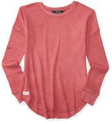 Ralph Lauren Girls 2-6x Long Sleeve Roundneck Top