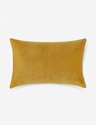 Lulu & Georgia Charlotte Velvet Lumbar Pillow, Goldenrod