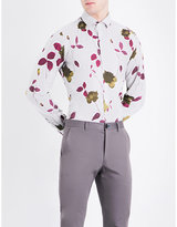 Duchamp Floral-print tailored-fit cotton-melange shirt