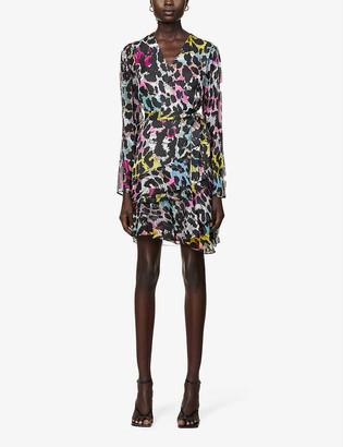 Diane von Furstenberg Keyla abstract-print crepe mini wrap dress