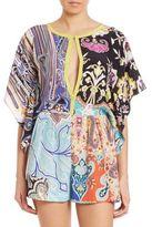 Etro Printed Silk Short Jumpsuit
