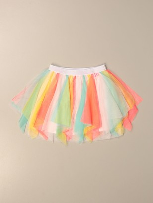 Billieblush Skirt In Multicolor Tulle