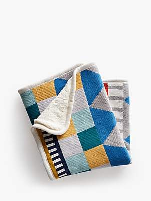 Pottery Barn Kids Organic Geo Knit Baby Blanket, Multi