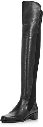 Stuart Weitzman Women's Lynelle Leather & Neoprene Over-the-Knee Boots