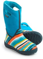 Bogs Footwear Prairie Striped Snow Boots - Waterproof, Suede (For Big Kids)