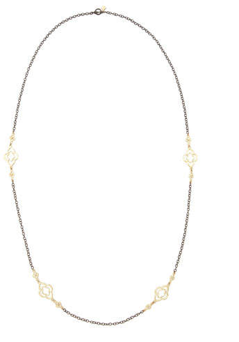 "Armenta Long Gold-Station Cable-Chain Necklace, 37""L"