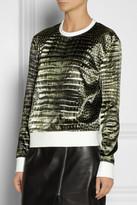 Reed Krakoff Alligator-print satin sweatshirt