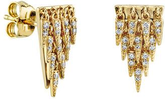 Sydney Evan 14k Diamond Cascade Fringe Earrings