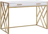 Safavieh White & Gold Elaine Two-Drawer Desk