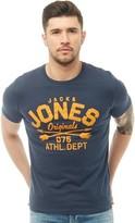 Jack and Jones Mens Joe T-Shirt Dress Blue