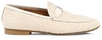 Aquatalia Carson Woven Loafers