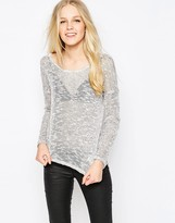 Vila Liza Salt & Pepper Knitted Sweater