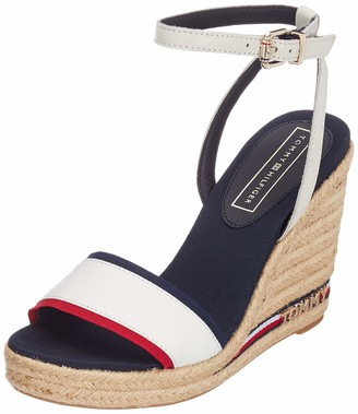Tommy Hilfiger Women's Iconic Elena Corporate Ribbon Platform Sandals