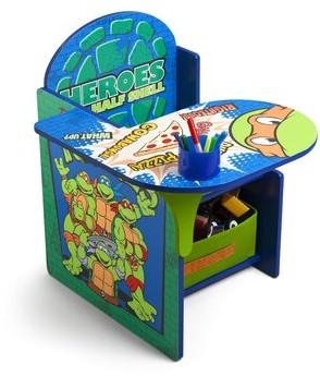 Ninja Turtles Kids Chair Desk with Cup Holder Delta Children