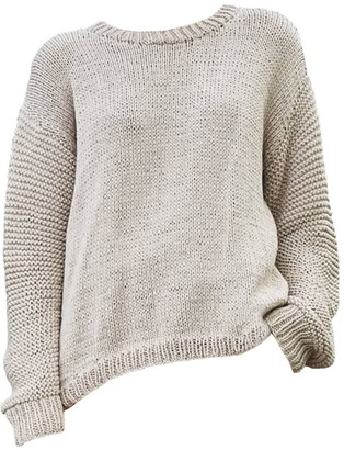 The Knotty Ones Nida Knit In Beige