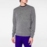 Paul Smith Men's Grey Marl Merino-Wool Sweater