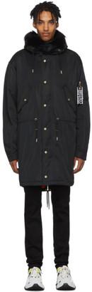 Versace Black Logo Coat