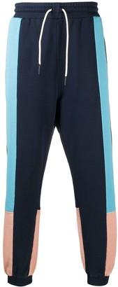 Drôle De Monsieur Colour-Block Cotton Sweatpants