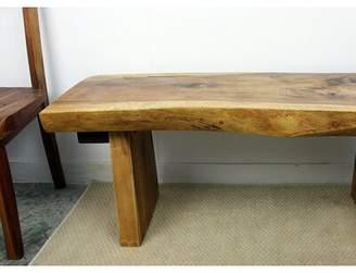 Benner Solid Wood Bench Loon Peak Color: Walnut