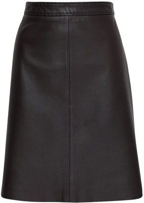 Max Mara Leather A-line Mini Skirt