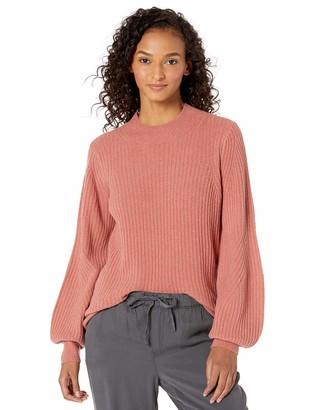 Daily Ritual Amazon Brand Women's Mid-Gauge Stretch Balloon Sleeve Crewneck Sweater