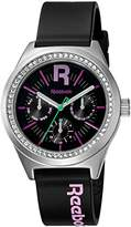 Reebok Classic R Women's Quartz Watch with Black Dial Analogue Display and Black Silicone Strap RC-CDD-L5-S1PB-BQ