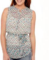 Liz Claiborne Sleeveless Belted Tunic