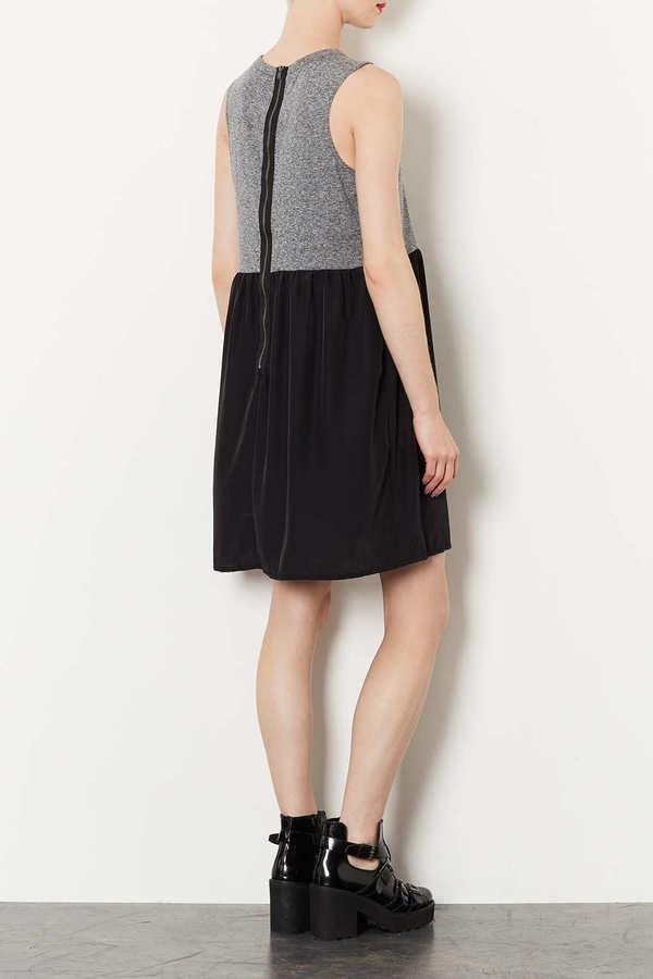 Topshop Woven 2 in 1 Tank Dress