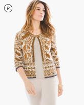 Chico's Embellished Pattern Card Cardigan