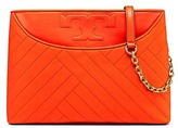 Tory Burch Alexa Suede Center-Zip Tote