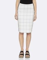 Oxford Highway Check Ponti Skirt