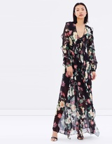 Nicholas Camille Floral Long Ruffle Maxi Dress