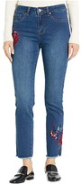 Tribal Girlfriend Five-Pocket Ankle w/ Embroidery in Deep Indigo (Deep Indigo) Women's Jeans