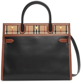 Burberry mini two-handle Title bag